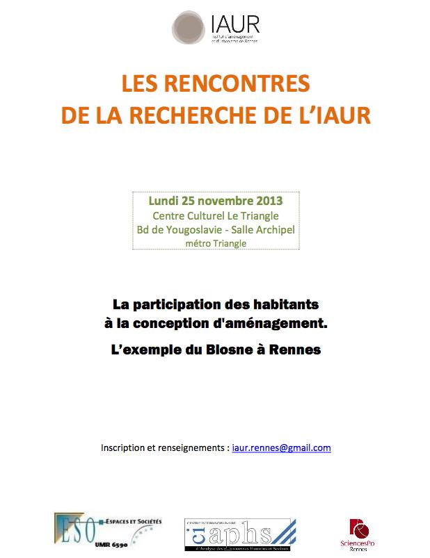 Les Rencontres de la Recherche du 25 novembre 2013