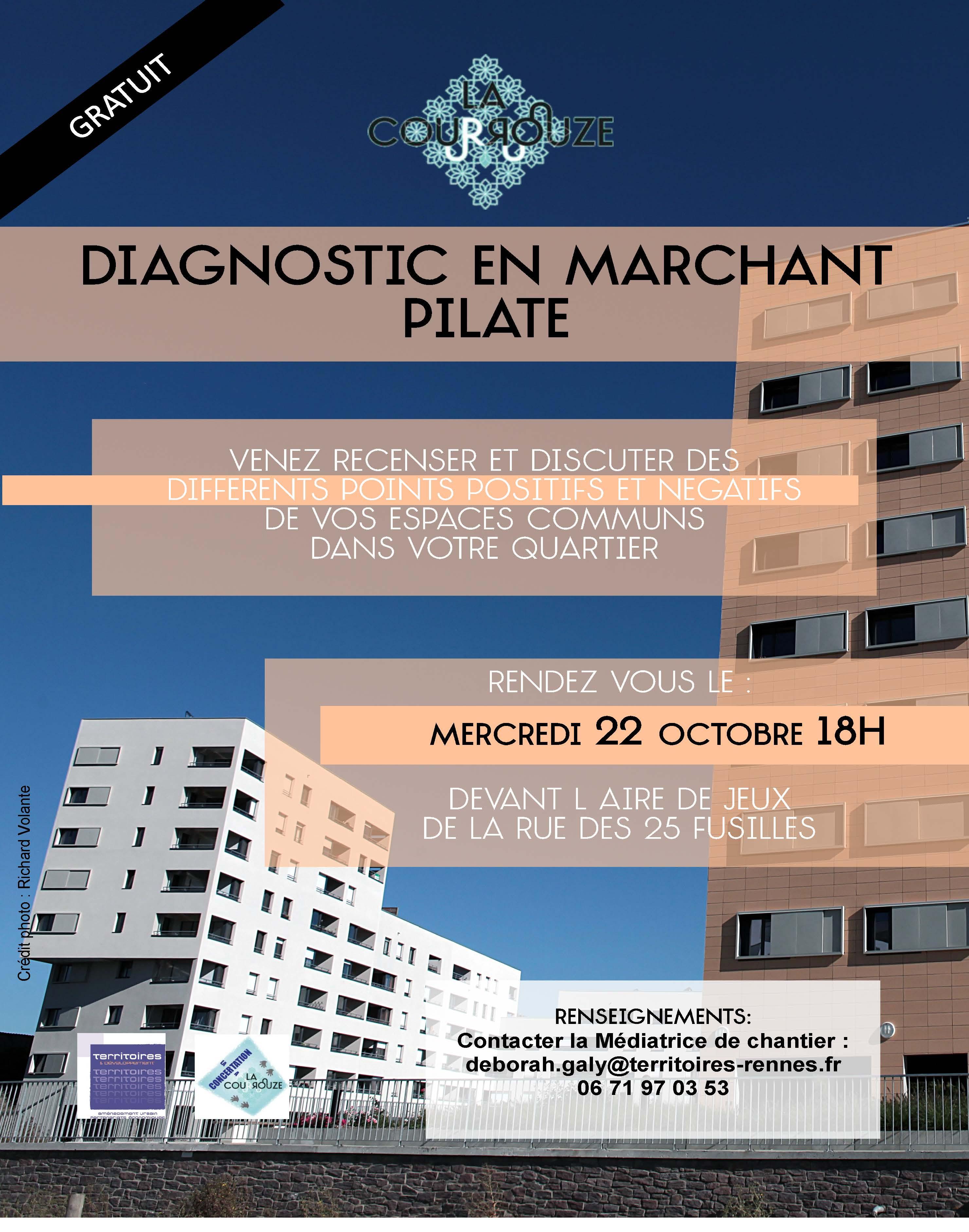 Affiche Diagnostic en Marchant Pilate 2014-1