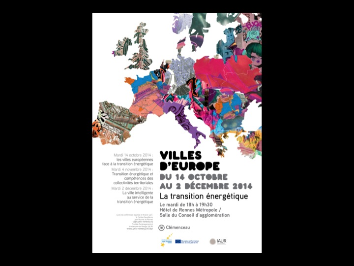 Villes d'Europe - 2014 - Lettre