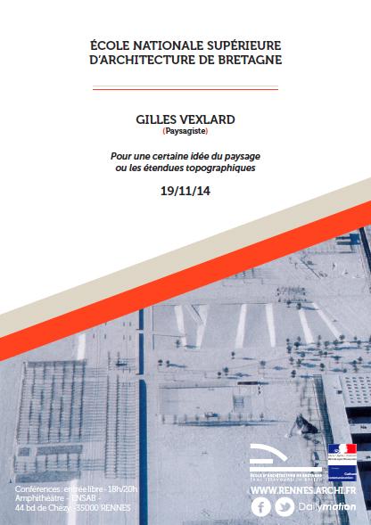 ENSAB - Affiche Conf. Gilles Vexlard