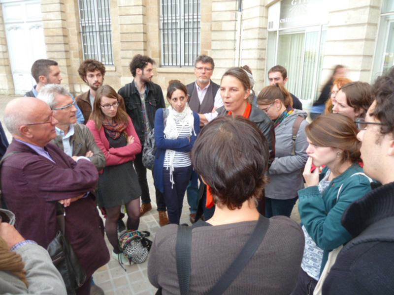 Groupe visite urbaine