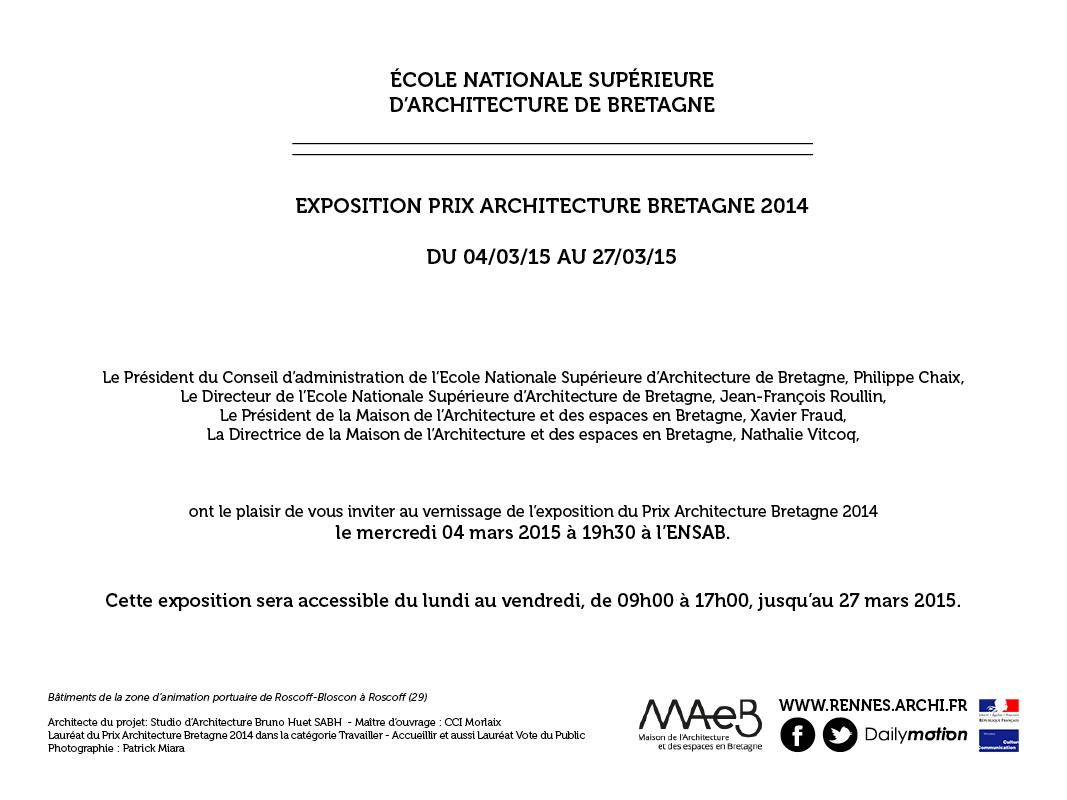 20150224 Carton invitation exposition Prix PAB20142