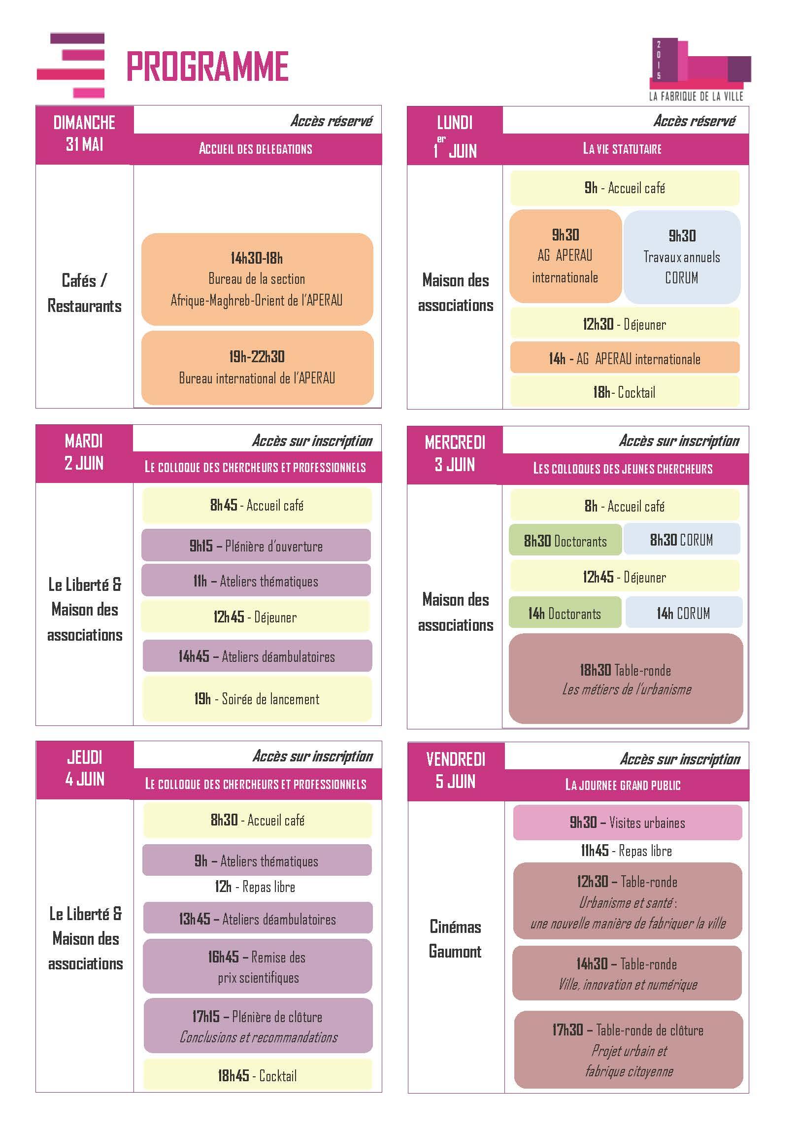 Programme simplifie