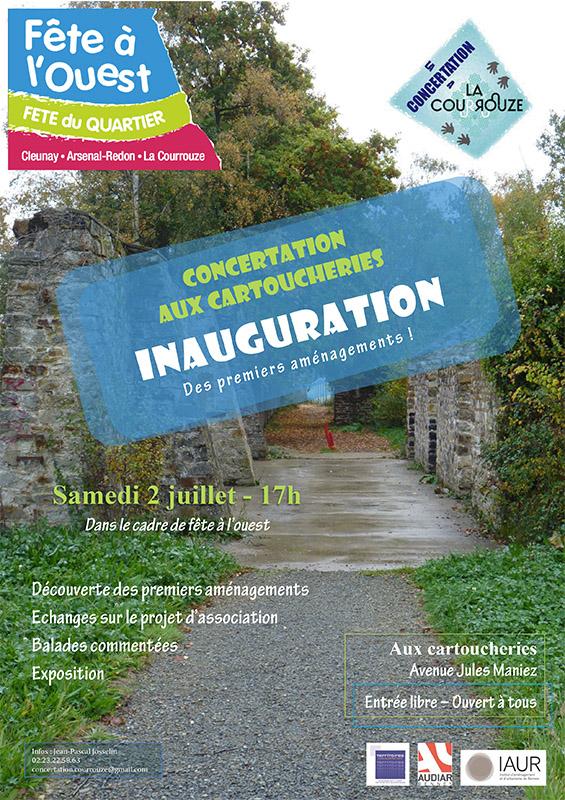 Affiche inauguration cartoucheries 2 juillet 2016