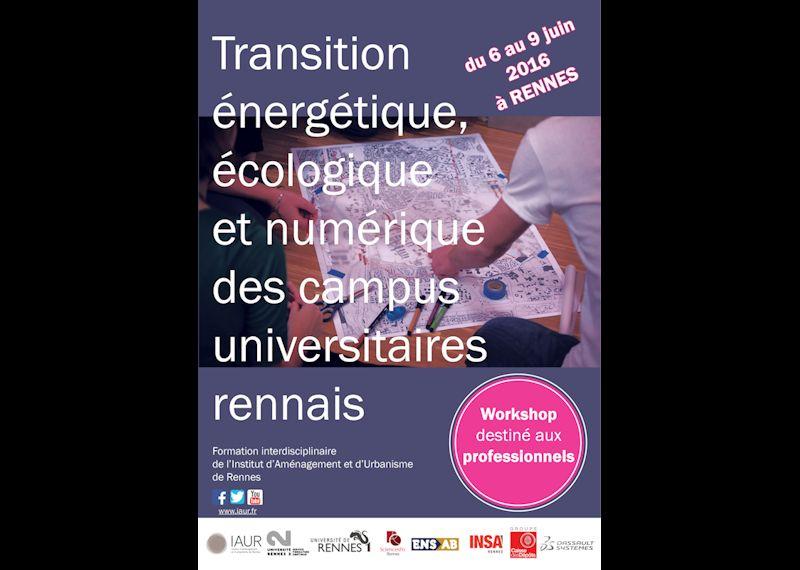éco-campus transition énergétique écologique et numérique workshop professionnel