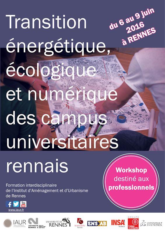 éco-campus workshop professionnel transition énergétique, écologique et numérique des campus universitaires rennais