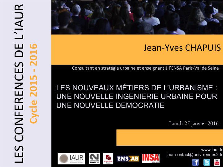 Conférence J-Y Chapuis