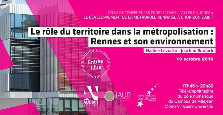 «Villes d'Europe 2016» : un cycle de conférences prospectives sur le thème de la métropolisation