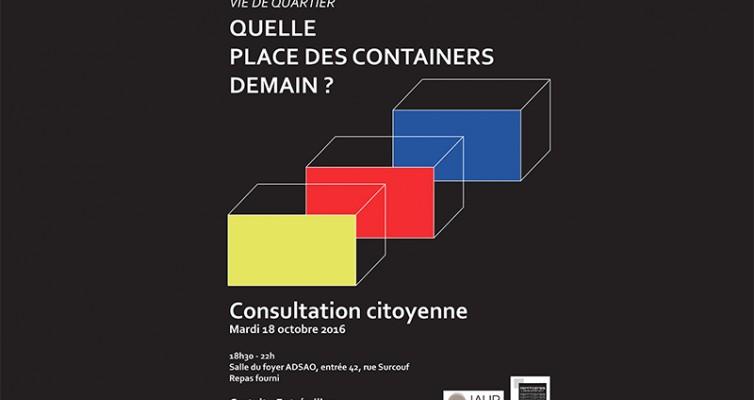 Consultation citoyenne : Quelle place des containers demain ?