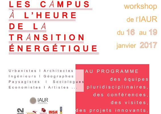 Workshop étudiant 2017 : Les campus à l'heure de la transition énergétique