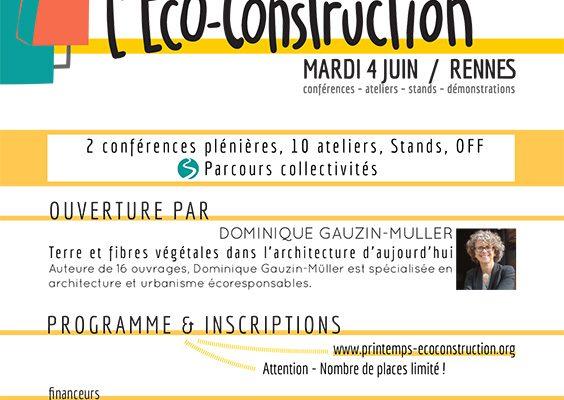 Le Printemps de l'Eco-Construction #4 accueilli à l'Université Rennes 2